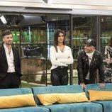 Sofía Suescun, Alejandro Albalá, Irene Rosales y Kiko Rivera en la casa de 'GH Dúo'