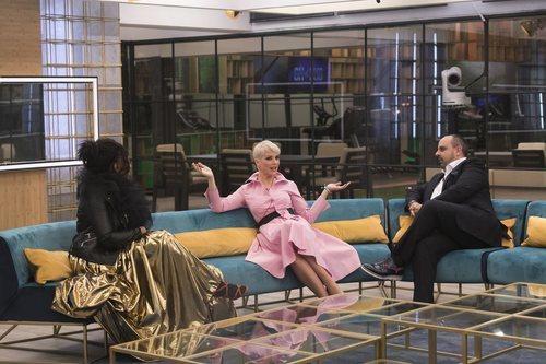 María Jesús Ruiz, Julio Ruz y Carolina Sobe en la gala 1 de 'GH Dúo'