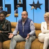 Carolina Sobe, Julio Ruz y María Jesús Ruiz, nominando en la gala 2 de 'GH Dúo'
