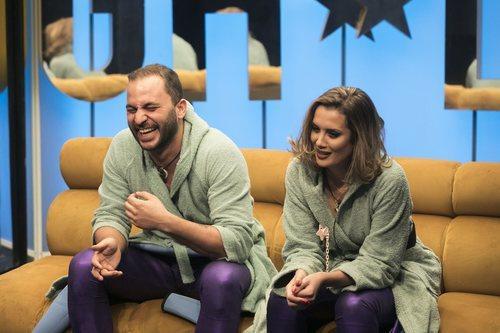 Antonio Tejado y Candela Acevedo nominando durante la gala 2 de 'GH Dúo'