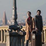 Pedro Alonso y Álvaro Morte en el rodaje de la tercera temporada de 'La Casa de Papel'