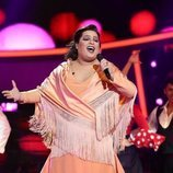 Brays Efe es María del Monte en la Gala 12 de 'Tu cara me suena'