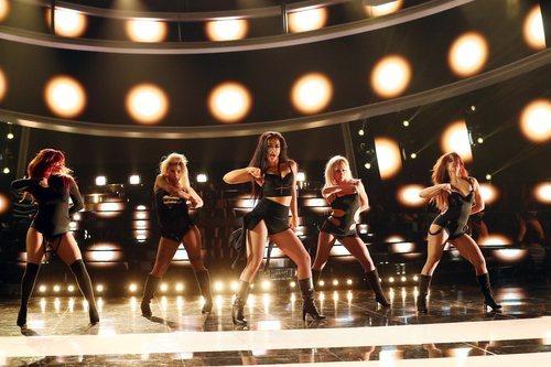 Mimi y sus compañeras de Lola Índigo son Pussycat Dolls en la Gala 12 de 'Tu cara me suena'