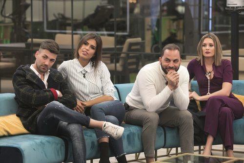 Alejandro Albalá, Sofía Suescun, Antonio Tejado y Candela Acevedo durante la gala 3 de 'GH Dúo'
