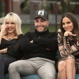 Ylenia, Irene Rosales y Kiko Rivera riéndose durante la gala 3 de 'GH Dúo'