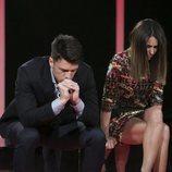 Raquel Martín y Fede Renecchi en la sala de expulsión en la gala 3 de 'GH Dúo'