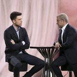 Fede Renecchi y Jorge Javier Vázquez hablando en plató en la gala 3 de 'GH Dúo'