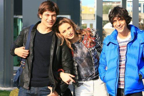 Cagatay Ulusoy, Serenay Sarikaya y Taner Ölmez en 'Medcezir'