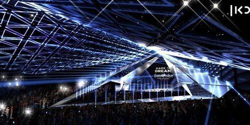 Vista lateral del escenario de Eurovisión 2019