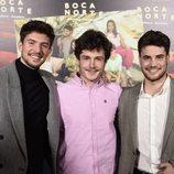 Carlos Right, Miki y Joan Garrido en la presentación de 'Boca Norte'