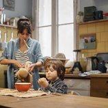 Sandra con su hijo en la segunda temporada de 'Mira lo que has hecho'
