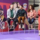 Los profesores y la presentadora de 'Fama a bailar 2019' junto a la directora de contenidos de Movistar+