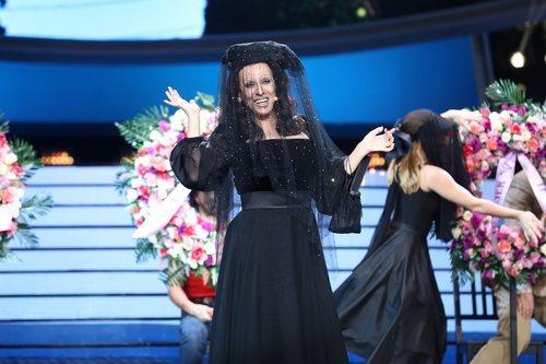Anabel Alonso como Massiel en la Gala 13 de 'Tu cara me suena'