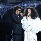 Carlos Baute y Ruth Lorenzo como Lionel Richie y Diana Ross en la Gala 13 de 'Tu cara me suena'