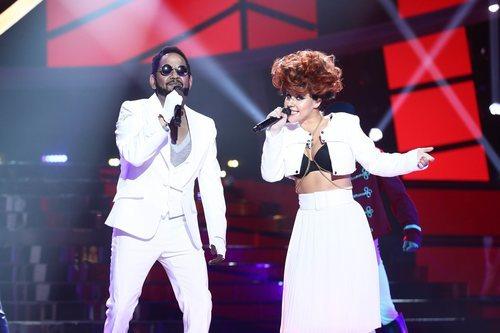 Corbacho y Lucía Gil como Will.i.am y Eva Simons en la Gala 13 de 'Tu cara me suena'
