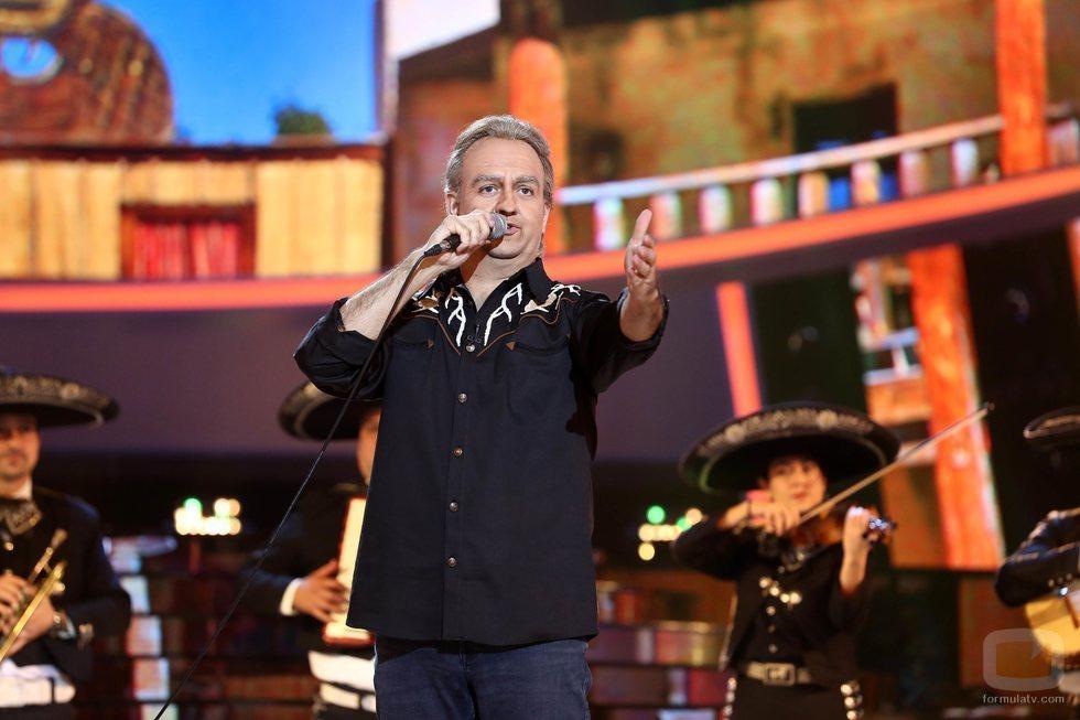 Manu Sánchez como Bertín Orborne en la Gala 13 de 'Tu cara me suena'