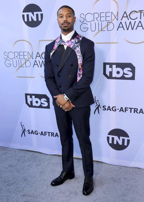 Michael B. Jordan posa en la gala de los SAG Awards 2019