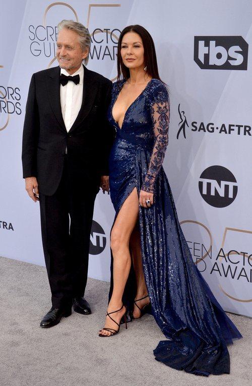 Michael Douglas y Catherine Zeta-Jones en los SAG Awards 2019