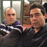 Pablo Chiapella y Carlos Areces, en el rodaje de la temporada 12 de 'La que se avecina'