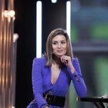 Candela Acevedo en el plató de 'GH Dúo' durante su entrevista como expulsada en la Gala 5