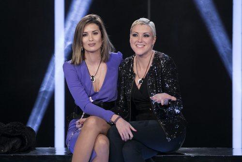 Candela Acevedo y María Jesús Ruiz minutos antes de la expulsión en la Gala 5 de 'GH Dúo'