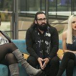 Carolina Sobe, Ylenia Padilla y Juan Miguel durante la Gala 5 de 'GH Dúo'