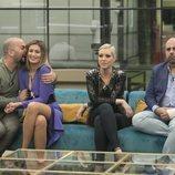 Antonio Tejado, Candela Acevedo, María Jesús Ruiz y Julio Ruz durante la Gala 5 de 'GH Dúo'