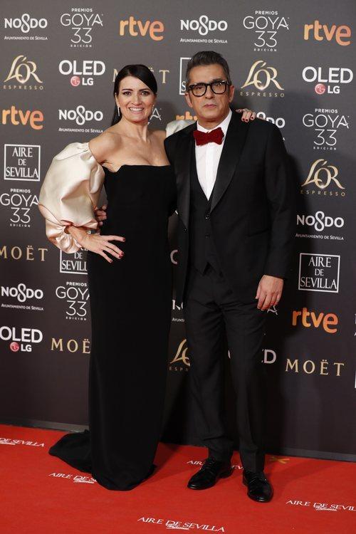 Andreu Buenafuente y Silvia Abril en la alfombra roja de los Premios Goya 2019