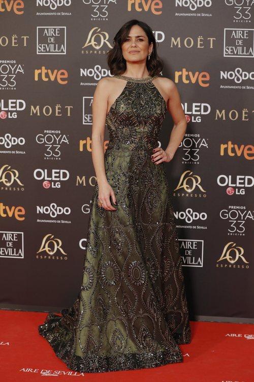 Elena S. Sánchez en la alfombra roja de los Premios Goya 2019