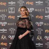 Miriam Díaz-Aroca en la alfombra roja de los Premios Goya 2019
