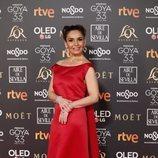 Blanca Marsillach en la alfombra roja de los Premios Goya 2019