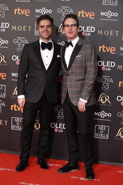 Ernesto Sevilla y Joaquín Reyes en la alfombra roja de los Goya 2019