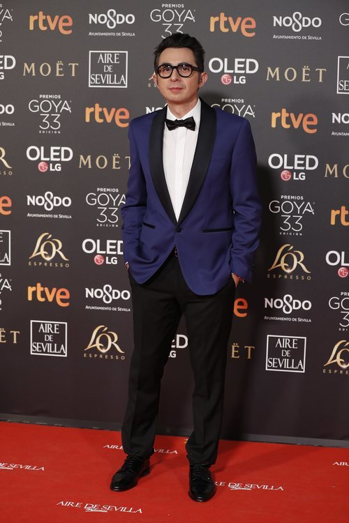 Berto Romero en la alfombra roja de los Premios Goya 2019