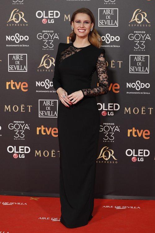 Manuela Vellés en la alfombra roja de los Premios Goya 2019