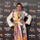 Mariola Fuentes en la alfombra roja de los Premios Goya 2019