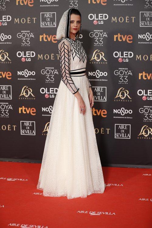 Macarena Gómez en la alfombra roja de los Premios Goya 2019