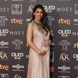 Sara Sálamo en la alfombra roja de los Premios Goya 2019