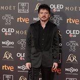 Coque Malla posa en la alfombra roja de los Premios Goya 2019