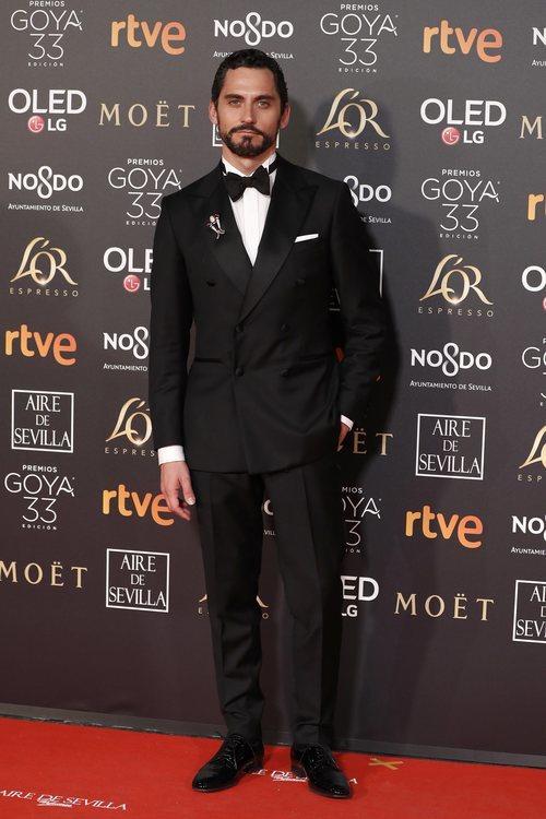 Paco León en la alfombra roja de los Premios Goya 2019