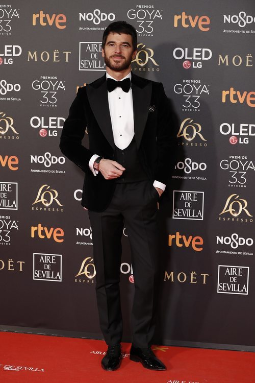 Alfonso Bassave en la alfombra roja de los Premios Goya 2019