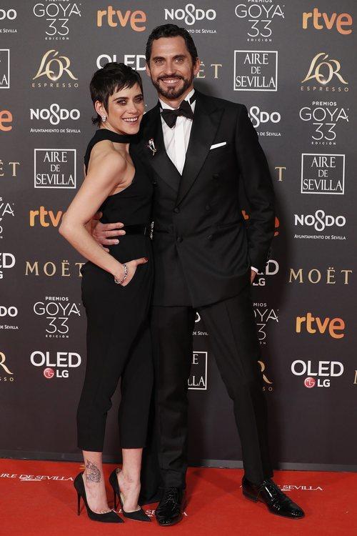 Paco León y María León en la alfombra roja de los Premios Goya 2019