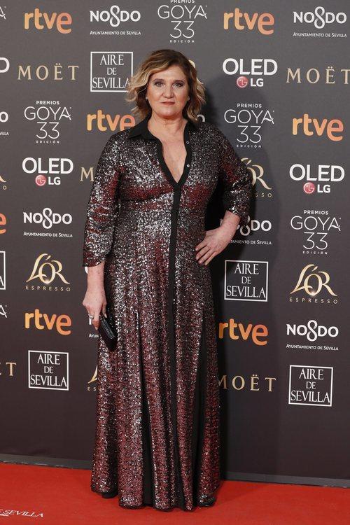 Ana Wagener en la alfombra roja de los Premios Goya 2019