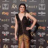Amaia Romero en la alfombra roja de los Premios Goya 2019