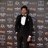 Andrés Velencoso posa en la alfombra roja de los Premios Goya 2019