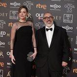 Álex de la Iglesia y Carolina Bang en la alfombra roja de los Premios Goya 2019