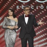 Silvia Abril y Andreu Buenafuente presentando los Premios Goya 2019
