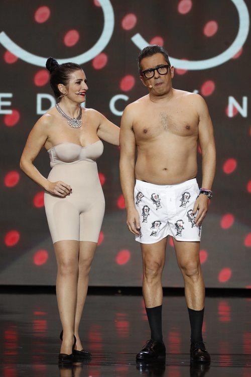 Silvia Abril y Andreu Buenafuente durante los Premios Goya 2019
