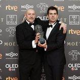 """José Herrera y Manuel Sirgo con su Goya 2019 a Mejor corto de animación por """"Cazatalentos"""""""