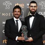 Julio Pérez del Campo y Carlos Bover con su Goya 2019 a Mejor corto documental por