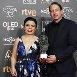 """El equipo de """"Roma"""" con su Goya 2019 a Mejor película iberoamericana"""